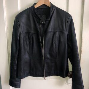 Jackets & Blazers - Leather jacket, Cafe-racer style